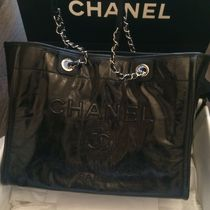 CHANEL ICON Black/SHW Jacquard Meduim Shopping Bag