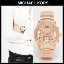 Michael Kors Street Style Round Quartz Watches Stainless Digital Watches