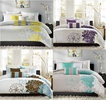 MADISON PARK Flower Patterns Pillowcases Comforter Covers Duvet Covers
