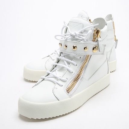 Stud Velcro high cut sneaker  WHITE