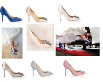 Manolo Blahnik Hangisi Party Style High Heel Pumps & Mules