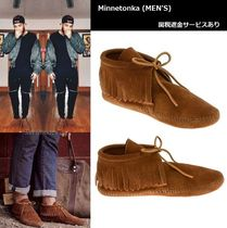 Minnetonka Suede Plain Fringes Shoes