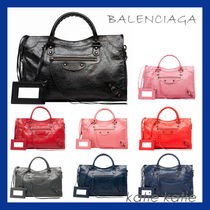 BALENCIAGA CITY Lamskin Classic Handbag (7 Colors)