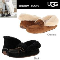 UGG Australia ALENA Moccasin Sheepskin Plain Shoes