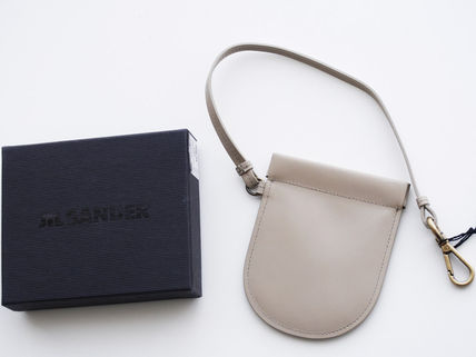 Street Style Plain Leather Coin Purses