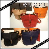 GUCCI Leather Party Style Handbags