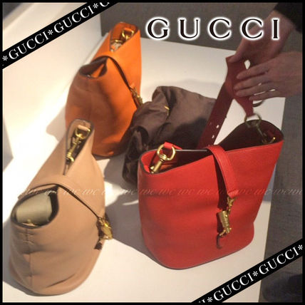 GUCCI Handbags Leather Party Style Handbags 2