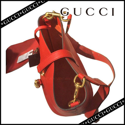 GUCCI Handbags Leather Party Style Handbags 3