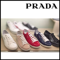 PRADA Leather Party Style Low-Top Sneakers