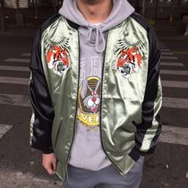 Street Style Plain Other Animal Patterns Souvenir Jackets