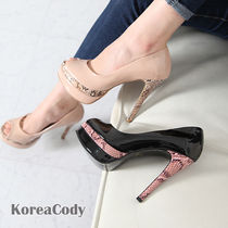 Open Toe Enamel Other Animal Patterns Pin Heels Party Style