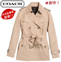 Coach Short Plain Trench Coats