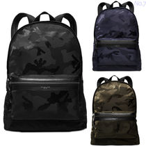 Michael Kors KENT Camouflage Unisex Nylon A4 Backpacks