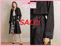Anthropologie Flower Patterns Long Party Style Trench Coats