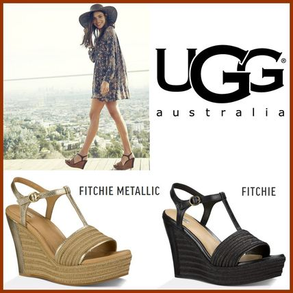 Comfortable modern wedge sandals fee included UGG FITCHIE