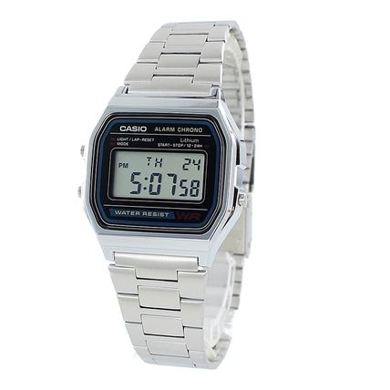 CASIO Casual Style Unisex Leather Digital Watches