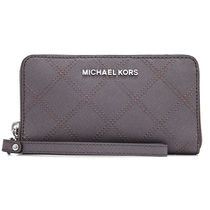 Michael Kors Studded Leather Long Wallets