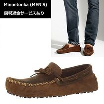 Minnetonka Moccasin Plain Leather Loafers & Slip-ons