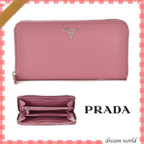 PRADA Calfskin Long Wallets