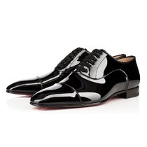 Christian Louboutin Straight Tip Enamel Plain Oxfords