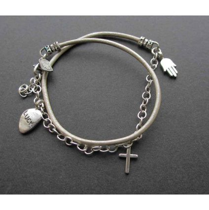 Cross Leather Bracelets