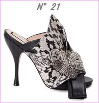 N21 numero ventuno Open Toe Blended Fabrics Other Animal Patterns Leather