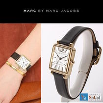 Marc by Marc Jacobs Leather Square Quartz Watches Analog Watches