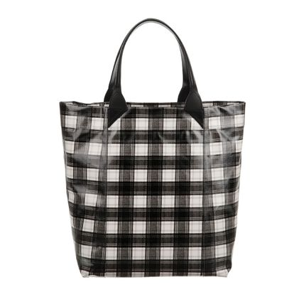 CARVEN Other Plaid Patterns Flower Patterns A4 Totes