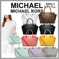 Michael Kors SELMA Selma Saffiano Leather Medium Satchel