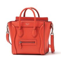 CELINE Luggage Calfskin 2WAY Plain Handbags
