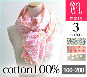 Dots Cotton Lightweight Scarves & Shawls