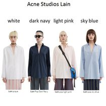 Acne Acne Lain pique striped shirt with a relaxed fit