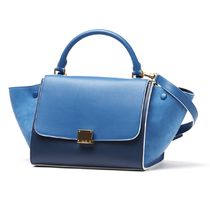 CELINE Trapeze Calfskin 2WAY Plain Handbags