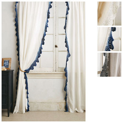 Are Anthropologie curtains 2 pairs Santina Lace