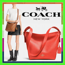 Coach Watermelon Red Polished Pebbled Leather Dufflette Bag