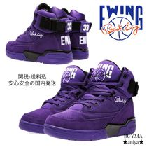 Ewing Athletics Unisex Street Style Leather Sneakers