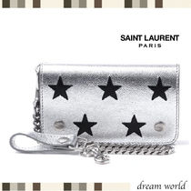 Saint Laurent Star Leather Coin Cases
