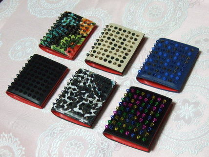 Studded Leather Folding Wallets