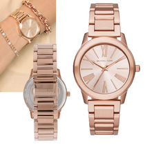 Michael Kors Metal Round Quartz Watches Office Style Analog Watches