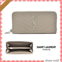 Saint Laurent Calfskin Long Wallets