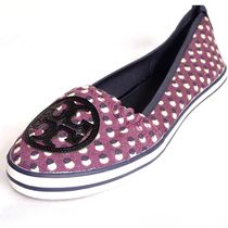 Tory Burch Dots Round Toe Rubber Sole Casual Style Street Style