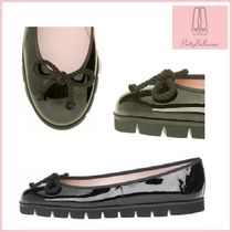 Pretty Ballerinas Platform Round Toe Rubber Sole Enamel Plain Lace-Up Shoes