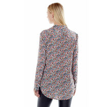 Equipment Flower Patterns Silk Long Sleeves Shirts & Blouses