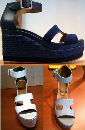 36e9bf0afee1 ... Sandals 7 HERMES Platform   Wedge Open Toe Leather Platform   Wedge ...