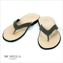 DI MELLA Plain Leather Sandals