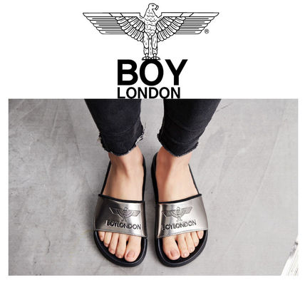 BOY LONDON Shower Sandals Unisex Plain Shower Shoes Shower Sandals