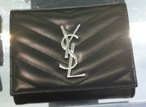 Saint Laurent Calfskin Folding Wallets