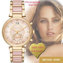 Michael Kors Blended Fabrics Round Party Style Quartz Watches Stainless