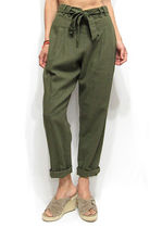 Linen Plain Cropped & Capris Pants