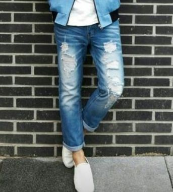 Joggers Denim Street Style Joggers Jeans